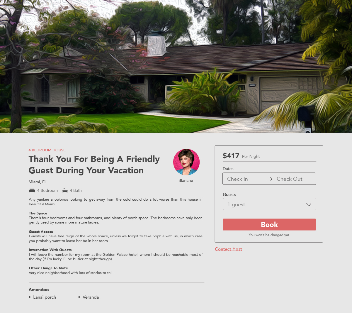 What if Your Favorite TV Characters Wanted to Rent Out Their Famous Homes Golden Girls