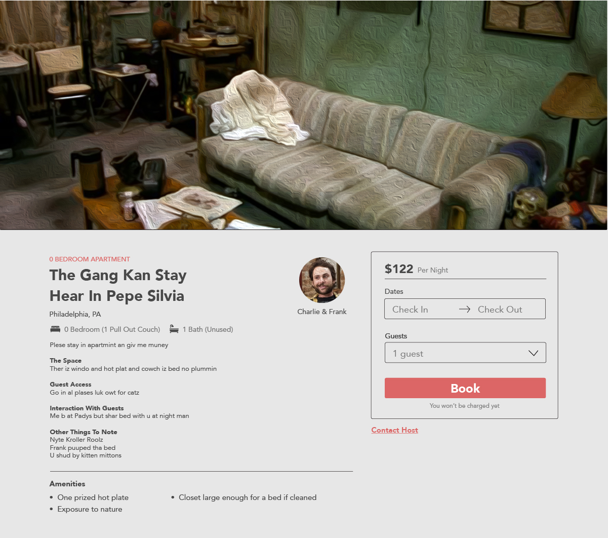 What if Your Favorite TV Characters Wanted to Rent Out Their Famous Homes Always Sunny