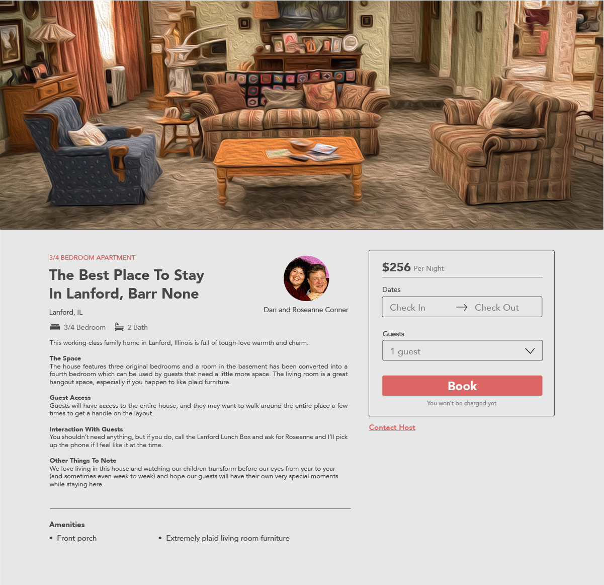 What if Your Favorite TV Characters Wanted to Rent Out Their Famous Homes Roseanne