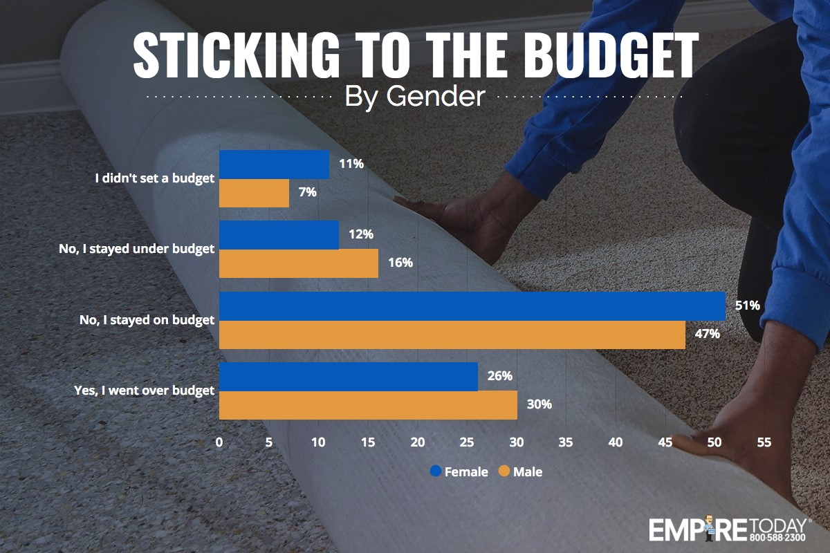 sticking to the budget by gender